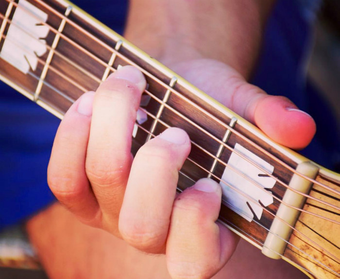 Guitar tip: shaping nails for guitar playing