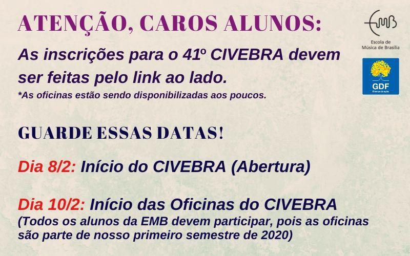 Cursos para músicos grátis no CIVEBRA (10-22/fev)