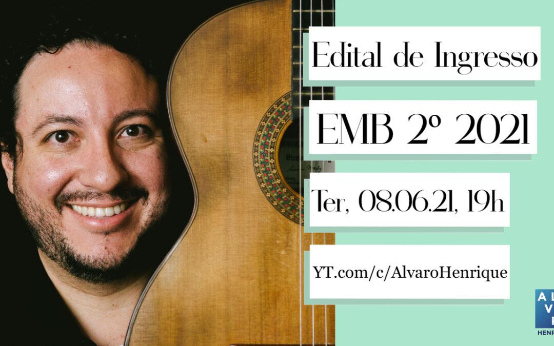 Publicado edital para estudar na Escola de Música de  Brasília (ATUALIZADO EM 02/06)